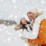 Couple enjoying the snow after LASIK