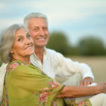 Couple with Cataracts in a field